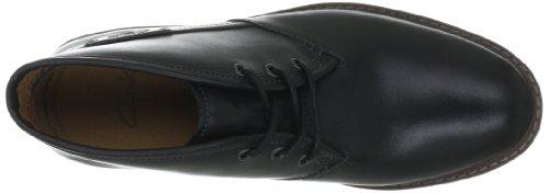 Clarks Montacute Duke 203510967, Stivaletti uomo, Nero (Schwarz (Black Leather)), 41.5