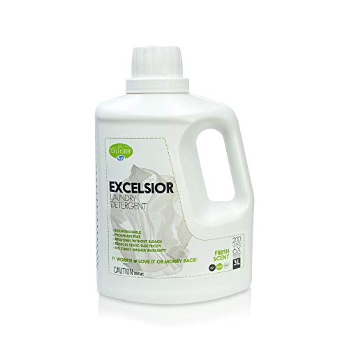 Excelsior - Laundry Detergent with Eco Bottle- Concentrated Liquid - Fresh Scent - Eco-Friendly - Biodegradable, Solvent, and Phosphate Free - for Standard and High-Efficiency Washers - 3 Liter