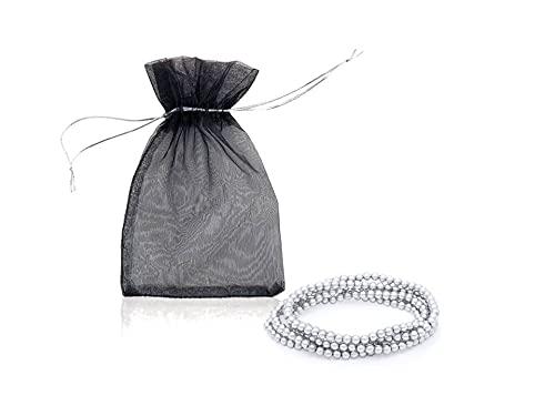 Lote pulseras + bolsitas de tela. Detalles para boda/bautizo/comunión. Reaglos invitada (10)