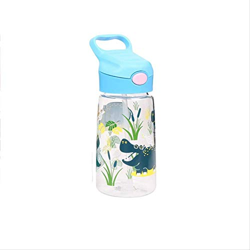 Feeding Bottle Cartoon Animal Infant Learning To Drink Cup Handle Strap Children Cups Straw Bouncing Kettle For Newborn 400ML