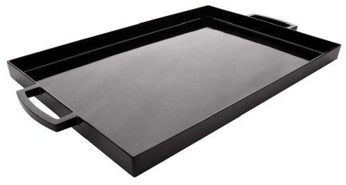 Zak Designs MeeMe Serviertablett, groß, 49,5 x 29,2 cm, Schwarz LT