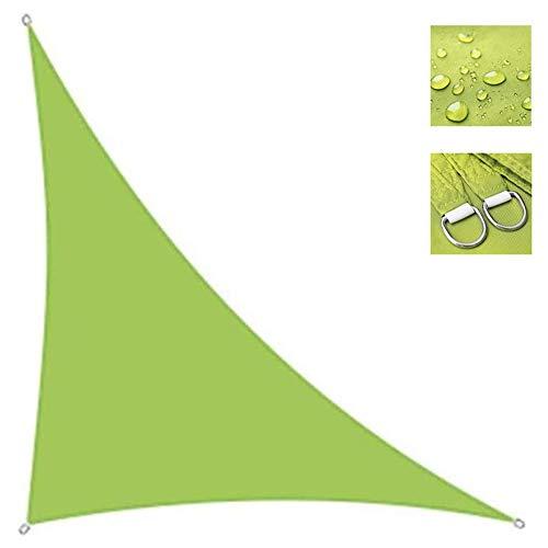 Shade Sails NEVY - Driehoek Waterbestendig Zon 95% UV Blok PES Zonnescherm Luifel Met Gratis Touw Voor Outdoor Patio Tuin Groen 4 Maten 5x5x5m Groen