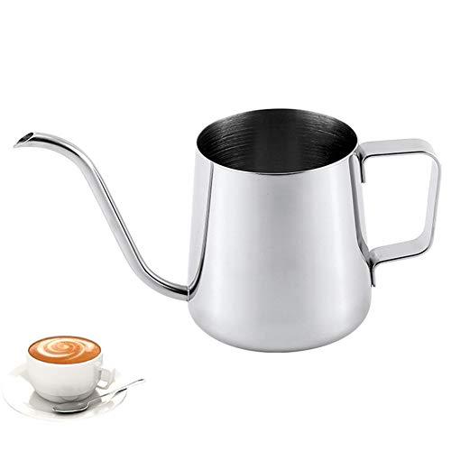 Knowooh koffieketel 350 ml zwanenhals schenktuit koffieketel handmatige waterketel theepot perfect voor het gebruik van koffiefilters thee bereiding