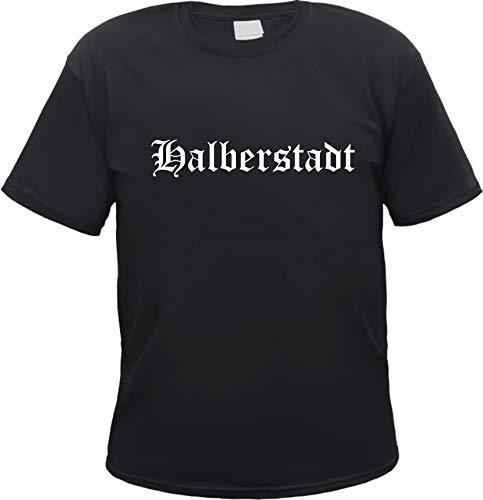 Halberstadt Herren T-Shirt - Altdeutsch - Tee Shirt L Schwarz