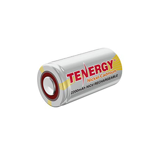 Tenergy SubC 2200mAh NiCd Flat Top Rechargeable Battery (No Tabs)