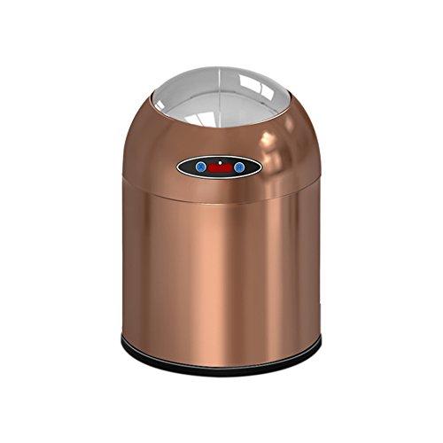 JD Papierkörbe Gebühr Automatische Mülleimer Ladung Automatische Sensor Bin Abfall Mülleimer Küche Wohnzimmer Metalllegierung Indoor Runde Touchless Einfache Form (größe : 6L)