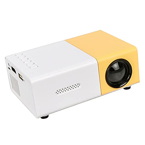ZLASS Mini proyector, proyector de Video LCD LED portátil, con Control Remoto y Cable AV 3 en 1, para Entretenimiento en el hogar al Aire Libre, Incluye Interfaz HDMI USB AV