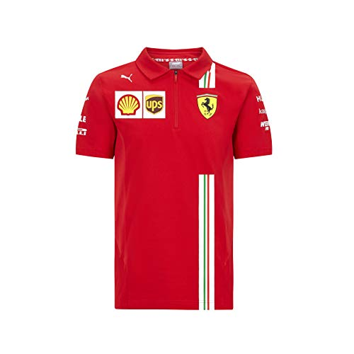 Official Formula One - Scuderia Ferrari 2020 Puma - Polo de Equipo para niño - Size:104