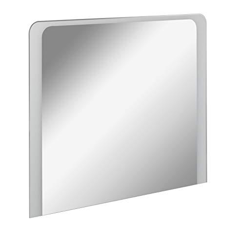FACKELMANN LED Spiegel Milano 100 / Wandspiegel mit Design-LED-Beleuchtung/Maße (B x H x T): ca. 100 x 80 x 3 cm/Lichtfarbe: Kaltweiß/Leistung: 15,5 Watt/Badspiegel mit austauschbaren LEDs