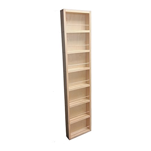 """Wood Cabinets Direct 48"""" Fulton - on The Wall Spice Rack - 14W - 3.5"""" Deep"""