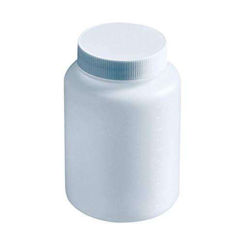 5 x 500 ml Kunststoff Weithalsflasche Labor Chemische Reagenzproben Versiegelung Flüssigkeitsbehälter
