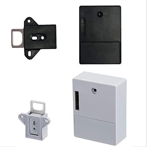 ACAMPTAR 2 Unids Invisible RFID de Apertura Inteligente Sensor Inteligente Gabinete Cerradura Armario Armario Zapatero Gabinete CajóN Cerradura de Puerta Cerradura ElectróNica Oscura