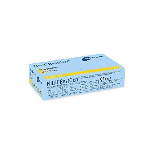 Meditrade 1286S Nitril BestGen, 1er Pack (1 x 100 Stück), S (6-6,5)