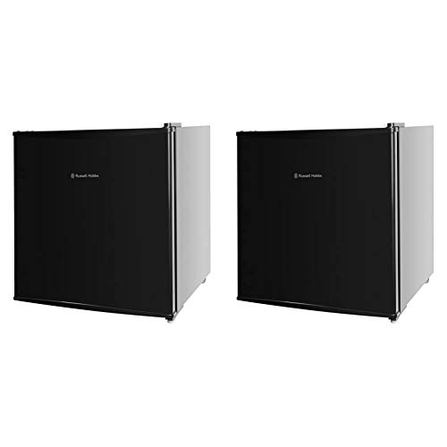 Russell Hobbs RHTTFZ1B 32L Table Top A+ Energy Rating Freezer Black & RHTTLF1B 43L Table Top A+ Energy Rating Fridge Black