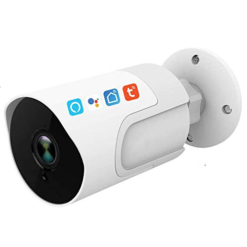 Tuya Smart Life IP Camera, Wireless WiFi Waterproof 1080P Motion Detection Security Surveillance Camera Works with Alexa Google Home