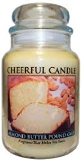CC Home Furnishings A Cheerful Giver Almond Butter Pound Cake Scented 2-Wick Glass Jar Candle - 24 oz.