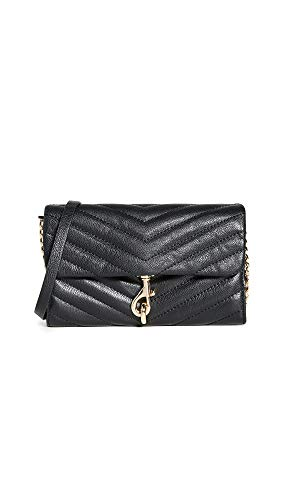 Rebecca Minkoff Women's Edie Chain Wallet, Black, One Size
