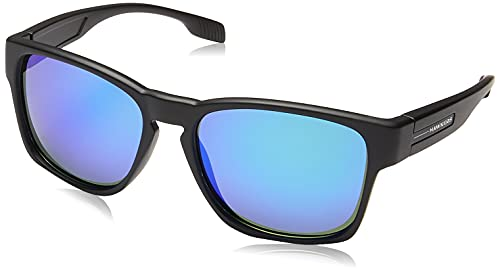 HAWKERS Core Polarized Gafas de Sol, Negro/Turquesa polarizado, One Size Unisex Adulto