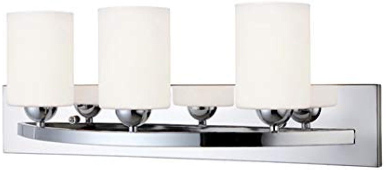 Canarm LTD IVL370A03CH-O Hampton 3 Light Vanity, Chrome with Flat Opal Glass
