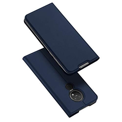 DUX DUCIS Hülle für Nokia 6.2 / Nokia 7.2, Leder Flip Handyhülle Schutzhülle Tasche Hülle mit [Kartenfach] [Standfunktion] [Magnetverschluss] für Nokia 6.2 / Nokia 7.2 (Blau)