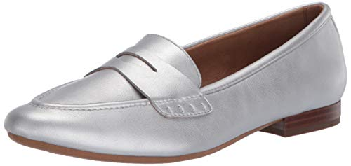Aerosoles Women's Casual, Loafer Flat, Silver, 8 US Medium