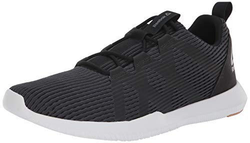 Reebok Men's Reago Pulse Cross Trainer, Coal/Black/Field tan/porc, 8.5 M US