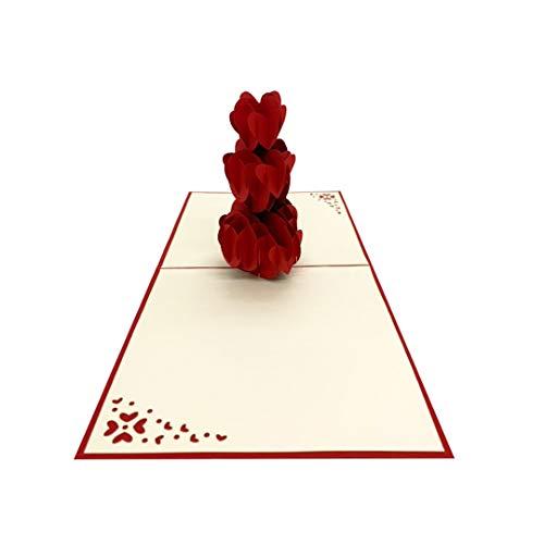 Herzen Stapel Romantische Liebeskarte Geschenk pop up 3D karte liebe zu Hochzeitstag Geburtstagskarte Glückwunschkarte Verlobung Muttertag Liebeserklaerung