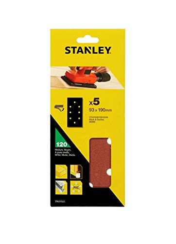 STANLEY STA31522-XJ 5 hojas de lija perforadas, braun