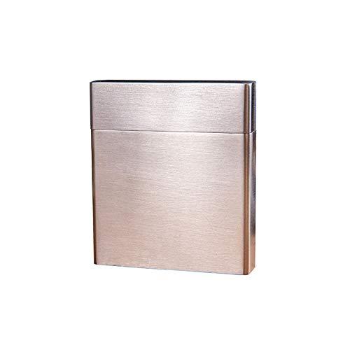 GYGY Caja de Cigarrillos Metal Acero Inoxidable Interruptor abatible Puro Hombre y Mujer Impermeable Compresión a Prueba de Humedad Al Aire Libre Portátil Paquete de 20