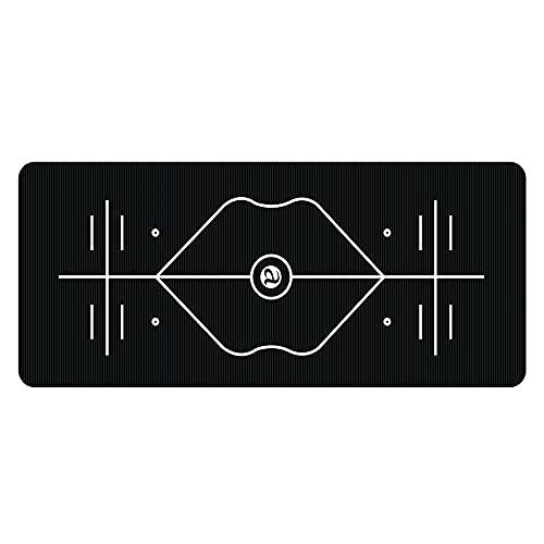 Esterilla de Yoga NBR Insípido, Colchoneta Yoga Antideslizante Yoga Mat con Líneas de Orientación Alfombrilla Pilates, para Ejercicios para Yoga,Pilates y Ejercicios de Piso, 180 * 75 * 0.9cm / E /
