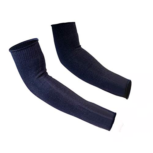 Protective Arm Sleeves, Cut Heat Resistant Arm Protectors Anti Abrasion Safety Armband for Garden Kitchen Work 1 Pair (Black)