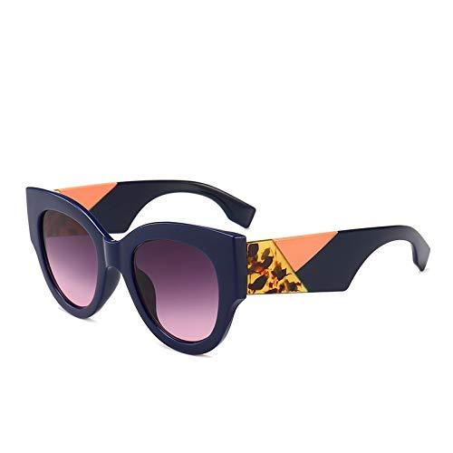 YANPAN Moda Personalidad Exquisitas Señoras Gafas De Sol Redondas Tendencia Gafas De Sol Retro C3 Cesta Gris
