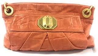 B Makowsky Purple Zip top Shoulder bag Satchel, Coral