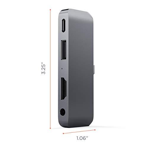 『Satechi アルミニウム Type-C モバイル Proハブ USB-C PD充電 4K HDMI USB 3.0 3.5mm ヘッドホンジャック (iPad Pro, Microsoft Surface Go対応) (スペースグレイ)』の3枚目の画像