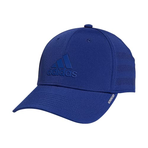 adidas Men's Gameday 3 Structured Stretch Fit Cap, Victory Blue/Victory Blue, Small-Medium