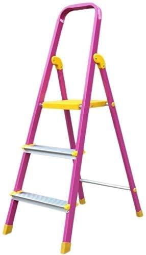 YZH Scale Portatili Leggere Scaletta a Spina di Pesce, Lega di Alluminio Sgabello 3 Steso da Cucina Cucina Sedia Pieghevole Poggiapiedi Portatile, Stepladder, Stoccaggio, Stand Flower Stand