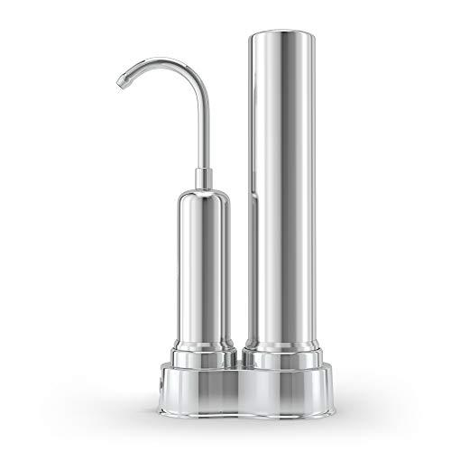 pH REGENERATE Faucet Water Filter - High pH Alkaline Water Filter System - Filtered Water Dispenser for Home, Kitchen Tap & Bathroom Sink - Easy Installation, Huge Filter Life