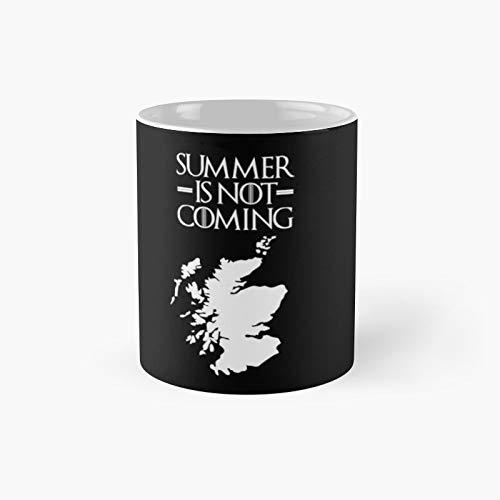 Summer is Not Coming - Taza clásica de texto Scotlandwhite | Mejor regalo divertido tazas de café 11 oz