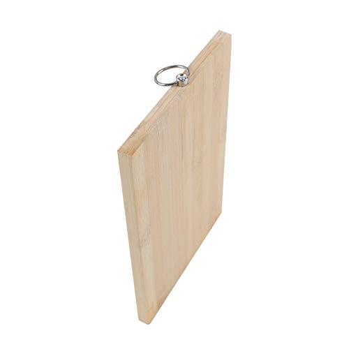 Tabla de cortar de madera gruesa para cocina, con asas, resistente para carne, frutas, verduras, cocina, bandeja de servir (34 cm)