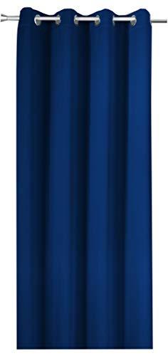 NOVUM fix Gardine Verdunkelungsvorhang mit OESEN *Thermoeffekt * MASSANFERTIGUNG bis 350cm Länge *DUNKELBLAU