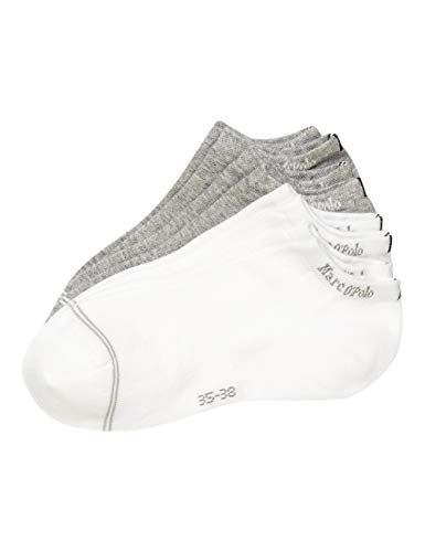 Marc O'Polo Body & Beach Damen Multipack W-Sneaker Low Cut 4-Pack Socken, Mehrfarbig, OneSize_1