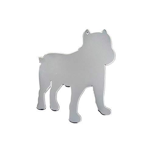 Quattroerre zelfklevende sjabloon voor honden, roestvrij staal, 56 x 68 mm
