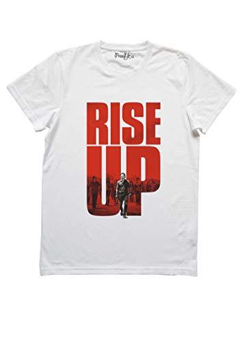 T-Shirt The Walking Dead Series Tele Bandes dessinées Rick Grimes Carl Daryl Dixon Negan Jeffrey Dean Morgan, M-Homme