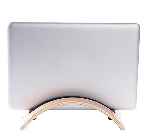 DONGYAO Soporte para ordenador portátil, soporte para tableta de teléfono, soporte de madera curvado, para Tablet PC y portátil (color café), marrón (color: café)