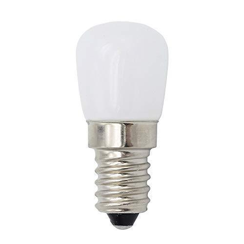 ZN Kühlschranklampe LED E14 2W Pygmäenlampen 15W Halogenlampe gleichwertig, warmweiß 3000K Glühlampen für Kühlschrank / Dunstabzugshaube / Nähmaschine, 2er Pack (Weiß)