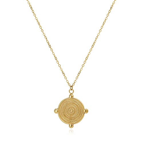 LILIE&WHITE Gold Coin Necklace for Women Pendant Necklace Choker Necklaces
