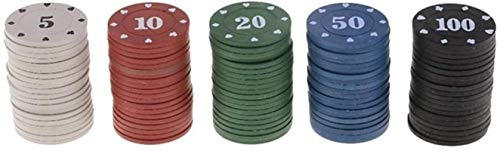 100 unids Texas Poker Chips Contando Bingo Chips Conjuntos Casino Tarjeta Juego Baccarat Contando Accesorios (Color: 100pcs Chips)