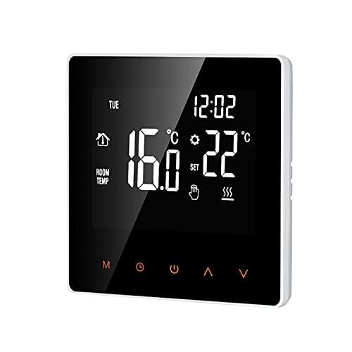 Galapare Termostato Inteligente, Controlador Digital de Temperatura Pantalla LCD Pantalla táctil...