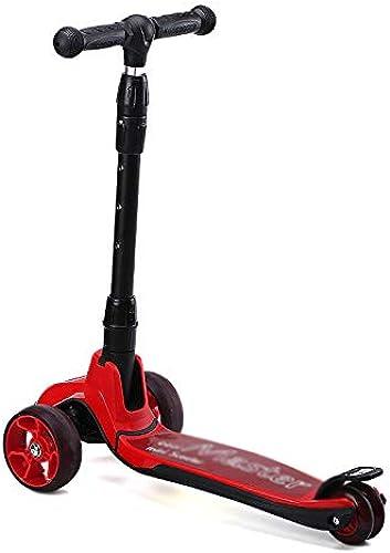 CDREAM Kinderscooter Dreirad Mit Verstellbarem Lenker Kinderroller Roller Scooter Blinken Für Kinder Ab 2-12 Jahren Bis 80kg Belastbar