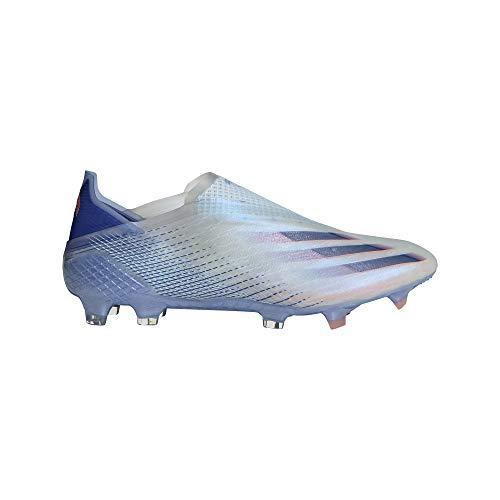 adidas X GHOSTED+ FG, Zapatillas de fútbol Hombre, Sky Tint Team Royal Blue Signal Coral, 45 1/3 EU